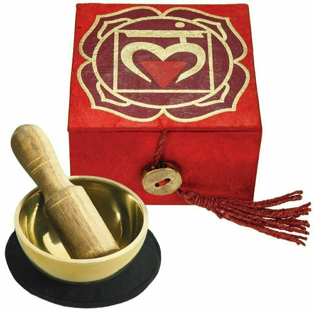 "Mini Meditation Bowl Box: 2"" Root Chakra - DZI (Meditation)"