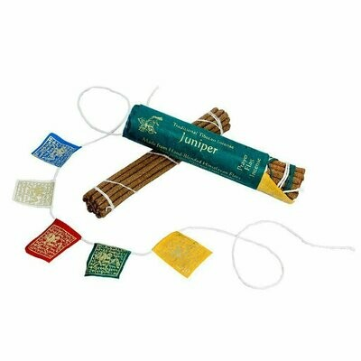Prayer Flag and Incense Roll - Juniper - DZI (Meditation)
