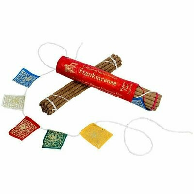 Prayer Flag and Incense Roll - Frankincense - DZI (Meditation)