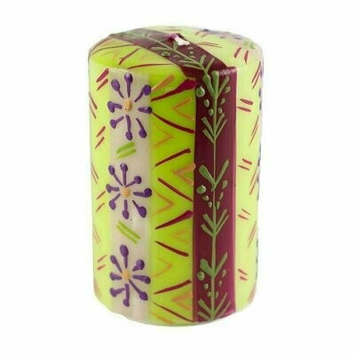 Hand Painted Candles in Kileo Design (pillar) - Nobunto