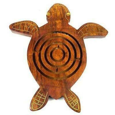 Handmade Wooden Sea Turtle Labyrinth - Matr Boomie