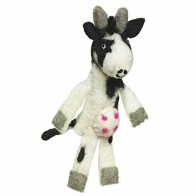 Woolie Finger Puppet - Cow - Wild Woolies (T)