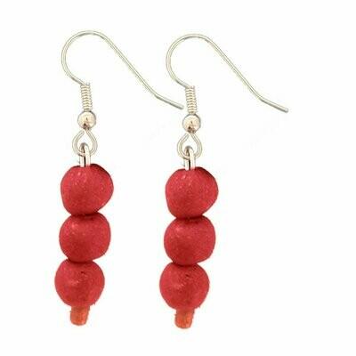Recycled Glass Bead Earrings Poppy - Global Mamas