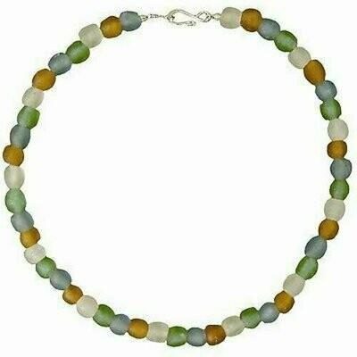 Rainbow Pearl Glass Bead Necklace - Global Mamas