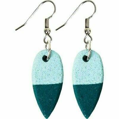 Sahel Earrings -Teal - Global Mamas (Jewelry)