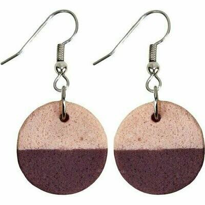 Sahel Earrings - Wine - Global Mamas (Jewelry)