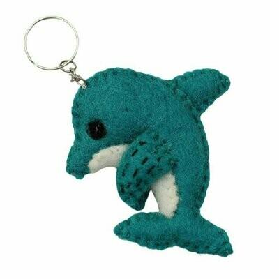 Felt Dolphin Key Chain - Global Groove (A)