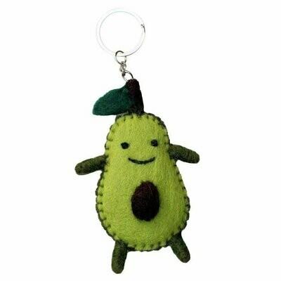 Felt Avocado Key Chain - Global Groove (A)
