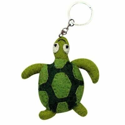 Felt Turtle Key Chain - Global Groove (A)