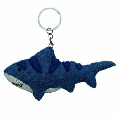 Felt Shark Key Chain - Global Groove (A)