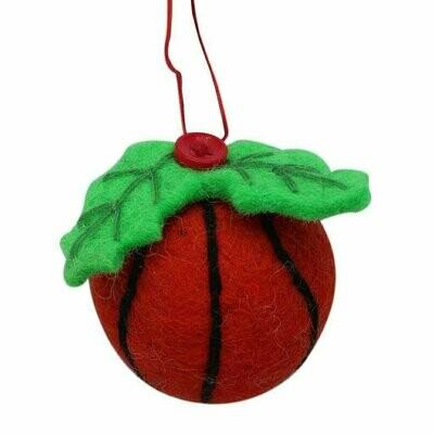 Basketball Felt Ornament - Global Groove (H)