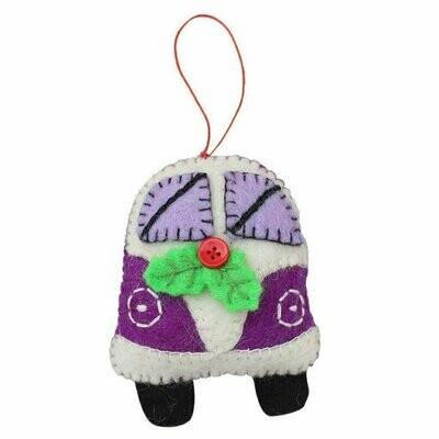 Purple Van Felt Ornament - Global Groove (H)