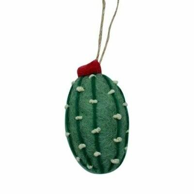 Short Cactus Felt Ornament (Sage Color) - Global Groove (H)
