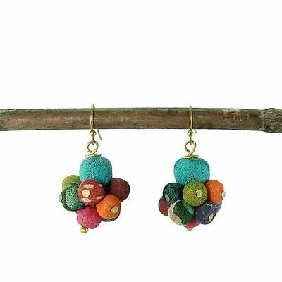 Kantha Drop Earrings - WorldFinds