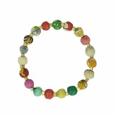 Dotted Kantha Bracelet - WorldFinds