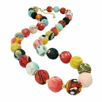 Kantha Garland Necklace - WorldFinds