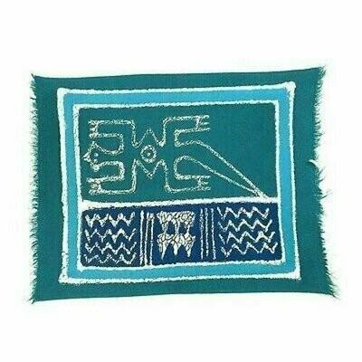 Handpainted Blue Gecko Batiked Placemat - Tonga Textiles