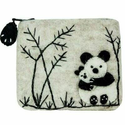 Felt Coin Purse - Panda Love - Wild Woolies (P)