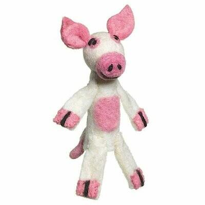 Woolie Finger Puppet - Pig - Wild Woolies (T)