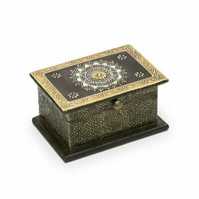 Antiqued Metal Henna Box - Matr Boomie (B)