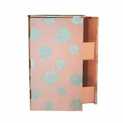 Swivel Jewelry Box - Cherry Blossom Design - Sustainable Threads (J)