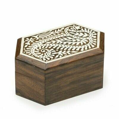 Aashiyana Wood Box - Paisley - Matr Boomie (B)