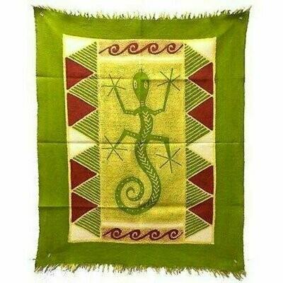 Gecko Batik in Green/Yellow/Red - Tonga Textiles