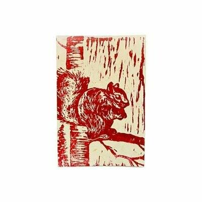Block Print Greeting Card - Squirrel - Imani Workshop (S)