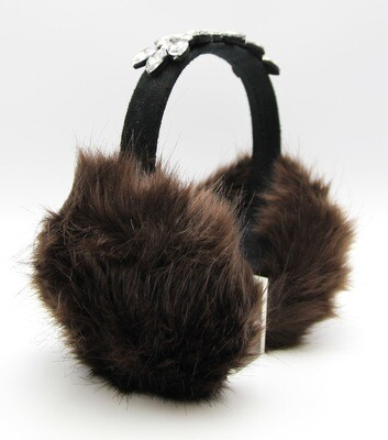 Jeweled Band Faux Fur EarMuffs
