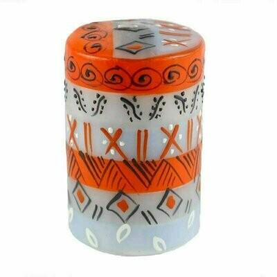 Hand Painted Candles in Kukomo Design (pillar) - Nobunto