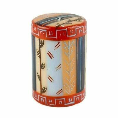 Hand Painted Candles in Uzushi Design (pillar) - Nobunto