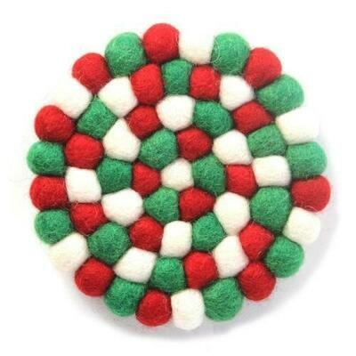 Multicolor Trivet- White Christmas - Global Groove (T)
