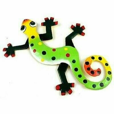 Eight Inch Green Feet Metal Gecko - Caribbean Craft