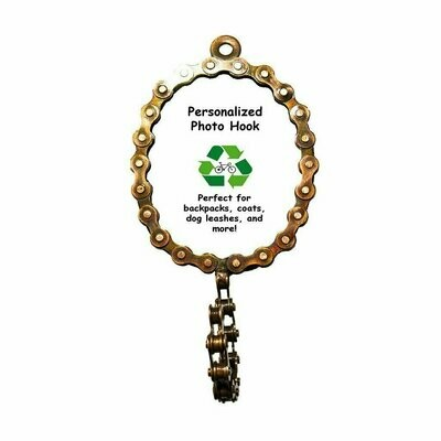 Oval Bicycle Chain Picture Frame Hook - Mira (P)