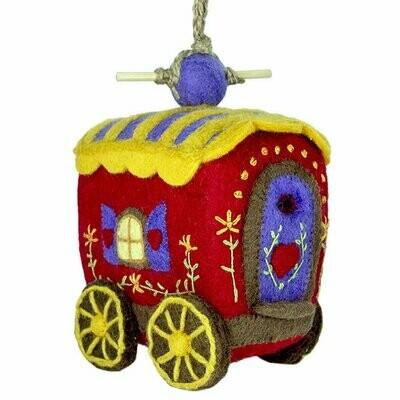 Wild Woolies Felt Birdhouse - Gypsy Wagon - Wild Woolies