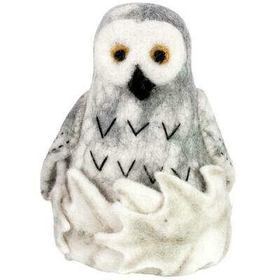 Felt Snowy Owl Tree Topper - Wild Woolies (H)