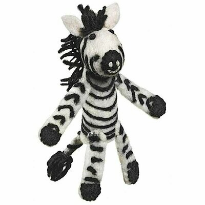 Woolie Finger Puppet - Zebra - Wild Woolies (T)