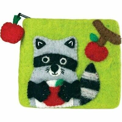 Felt Coin Purse - Raccoon - Wild Woolies (P)