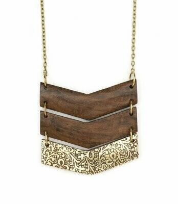 Earth & Fire Chevron Necklace - Matr Boomie (Jewelry)