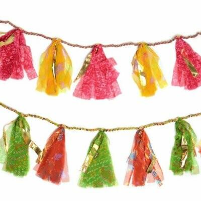 Upcycled Sari 8-foot Party Tassel Garland - Matr Boomie (H)