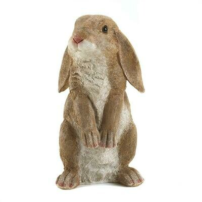 CURIOUS RABBIT GARDEN STATUE