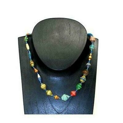 Glossy Recycled Paper Necklace - Afrika Pamoja