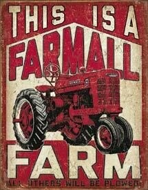 Tin Sign Farmall Farm