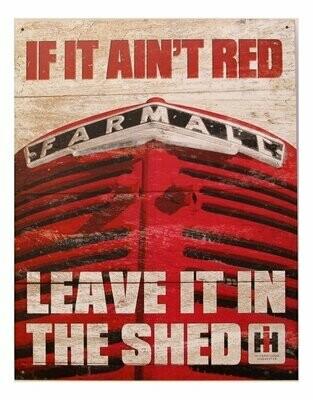 Tin Sign Farmall - If it Ain't Red