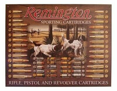 Tin Sign Remington Bullet Board