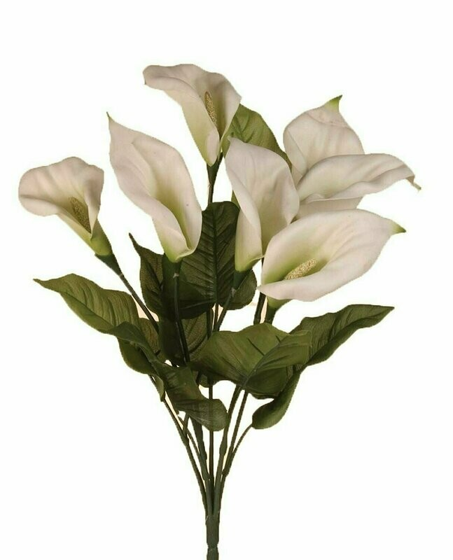 SB0305 - Natural Look Calla Lilly Bushx7 $5.25 each