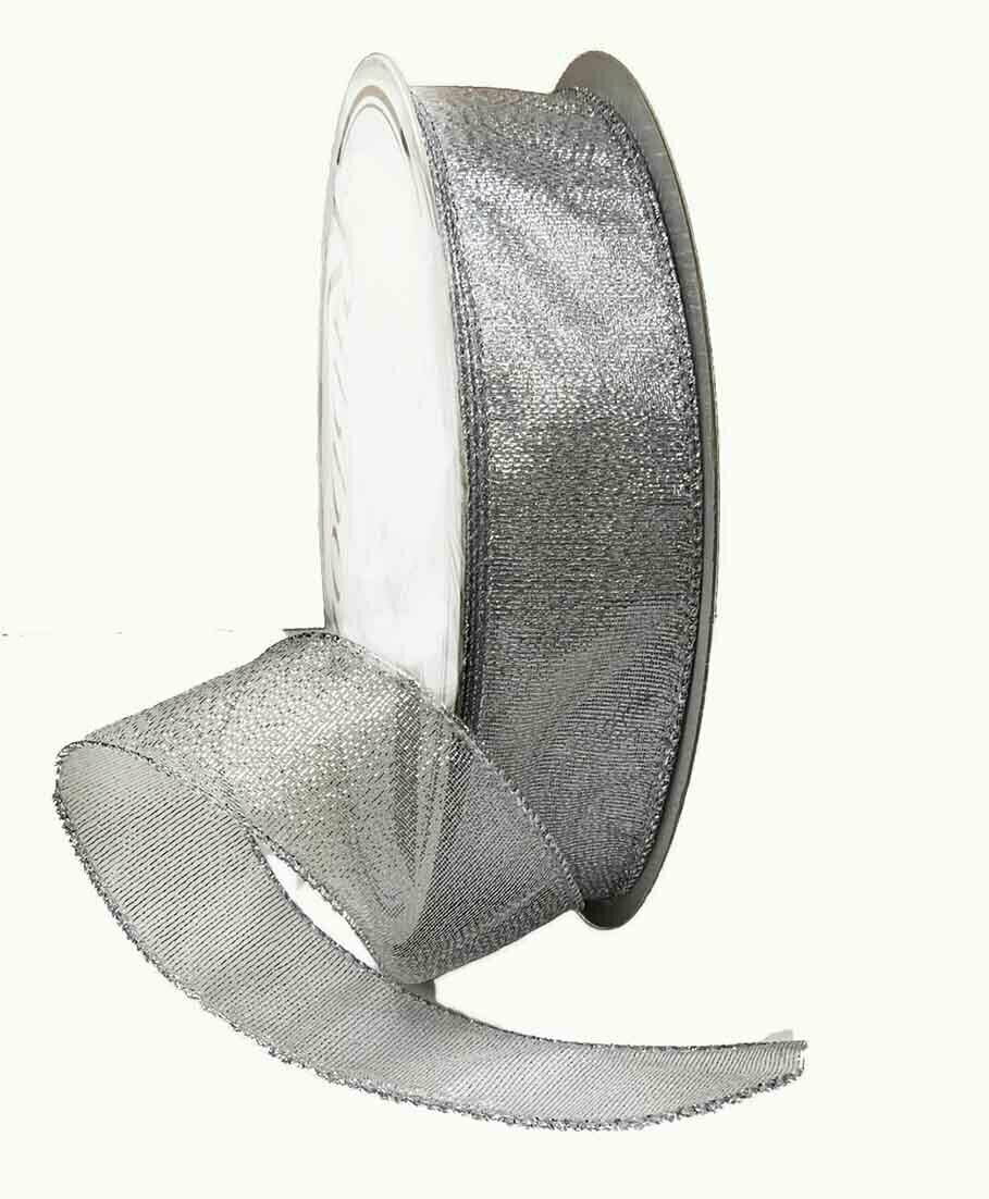 FR09SILVER - Sheer frost #9 holiday ribbon (50 yards) $9.25 each Minimum Order: 1 Case Pack: 12 pcs