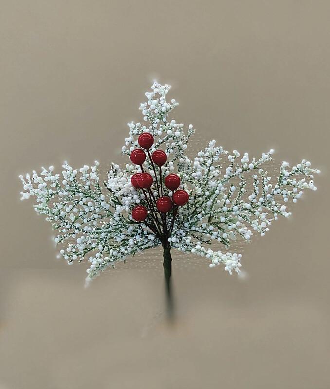 """XP5530WT - 9"""" Bubble Cedar Pine With Berry Pick $10.50 Per Dozen Minimum 6 Dozen Case Pack 48 Dozen"""