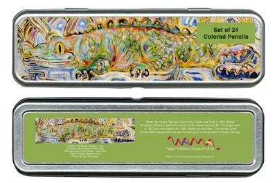 Herschel the Benign Alligator Colored Pencil Set