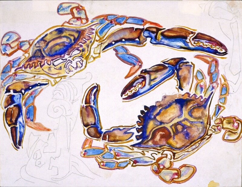 Blue Crabs Poster Print